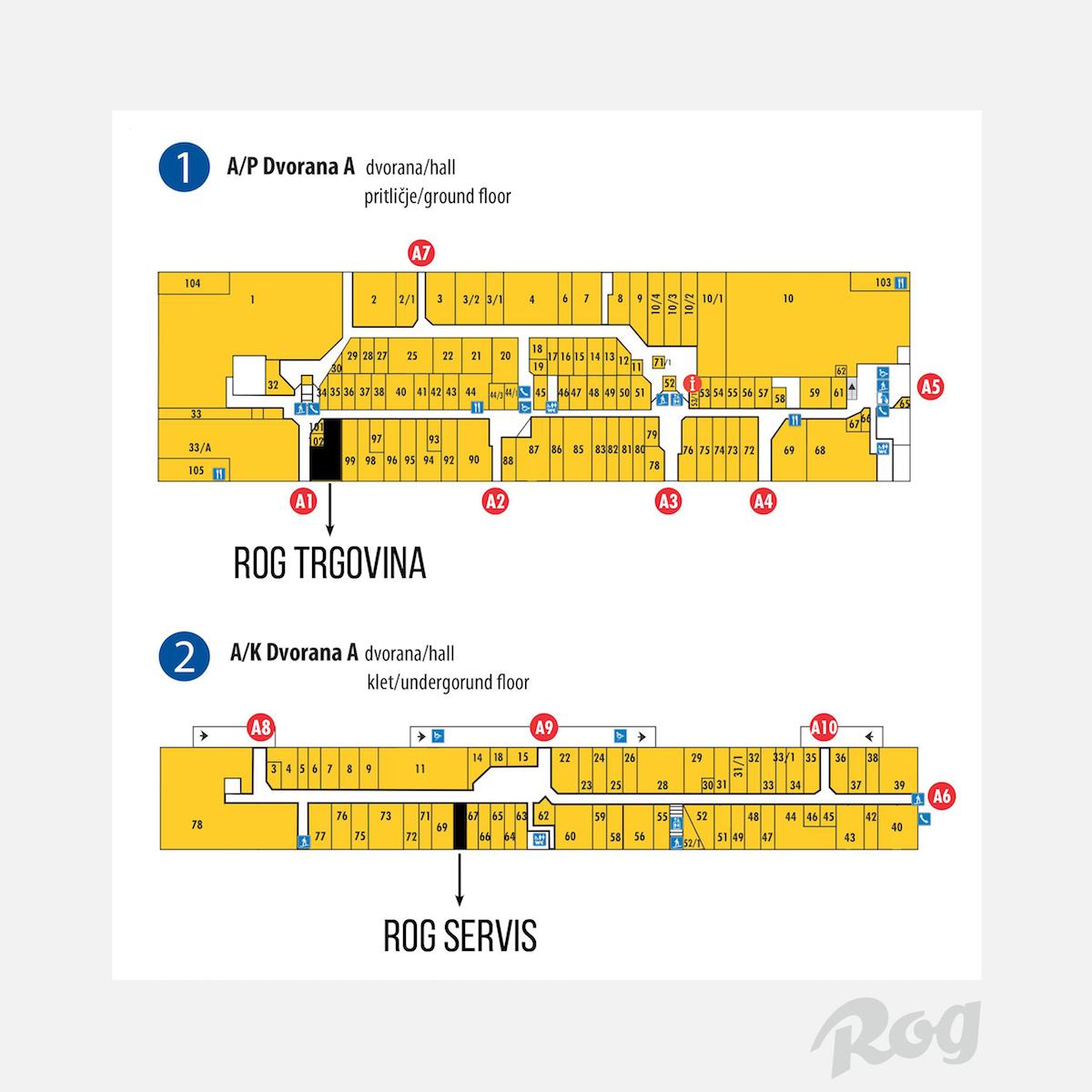 zemljevid trgovina servis V BTC Cityju odprt uradni Rogov servis koles